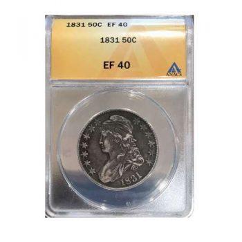 1831 Bust Half Dollar ANACS EF-40