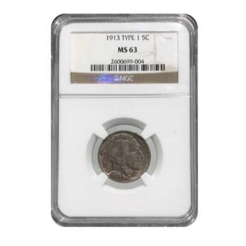 1913 Buffalo Nickel Type-I NGC MS-63