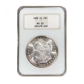 1890-CC Morgan Silver Dollar NGC MS63