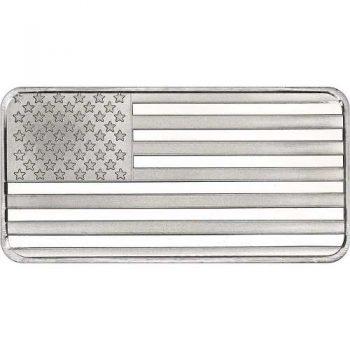 10 oz .999 Fine Silver American Flag