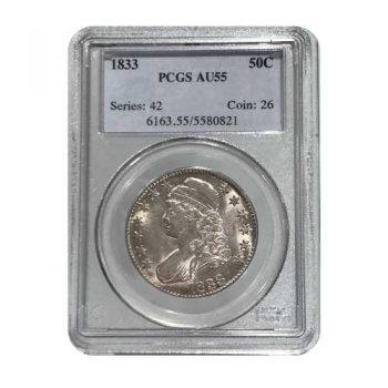 1833 Bust Half Dollar PCGS AU55