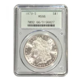 1879-S Morgan Silver Dollar PCGS MS66