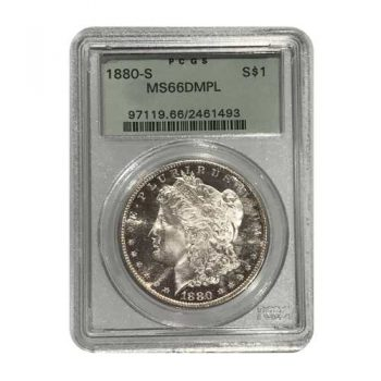 1880-S Morgan Silver Dollar PCGS MS66 DMPL