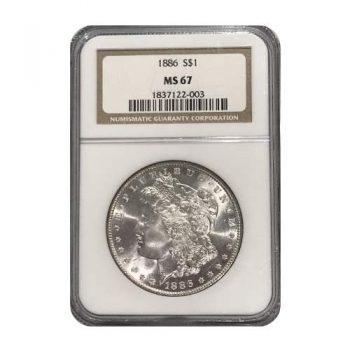 1886 Morgan Silver Dollar NGC MS67