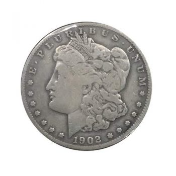 1902-S Morgan Silver Dollar VG