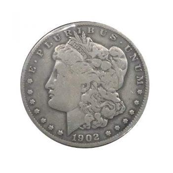 1902-S Morgan Silver Dollar VG