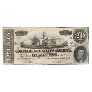 1864 $20 Confederate Note