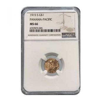 1915-S Panama-Pacific Gold Dollar NGC MS66