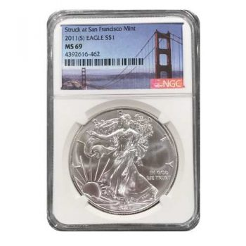 2011-(S) Silver Eagle Struck at San Francisco NGC MS69