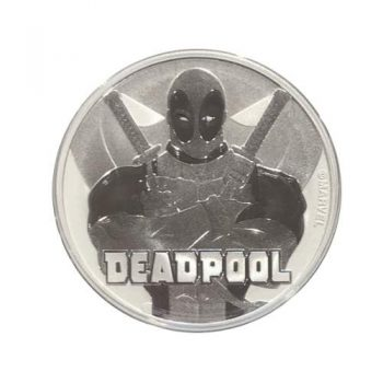 2018 Deadpool 1 oz Silver Marvel Series Coin GEM BU