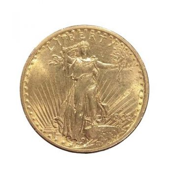 1908-D $20 Gold St Gaudens