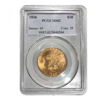 1926 $10 Indian Gold Eagle PCGS MS62