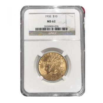 1932 $10 Indian Gold Eagle NGC MS62