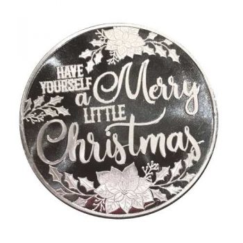 2018 Merry Little Christmas Poinsettia 1oz .999 Silver Medallion