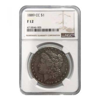 1889-CC Morgan Silver Dollar NGC F12