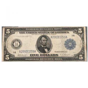 1914 $5 Blue Seal