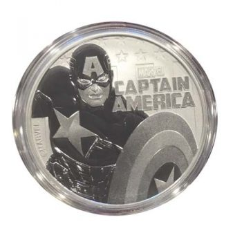 2019 1 oz Silver Captain America Marvel Coin
