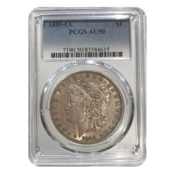 1889-CC Morgan Silver Dollar PCGS AU50