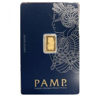 1 Gram PAMP Suisse Gold Bar .9999 Fine Bullion