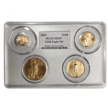 2004 Gold Eagle PCGS MS69 Set