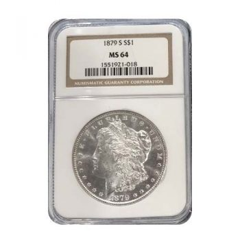 1879-S Morgan Silver Dollar NGC MS64