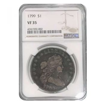 1799 Bust Silver Dollar NGC VF35