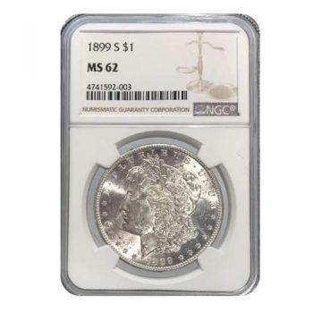 1899-S Morgan Silver Dollar NGC MS62