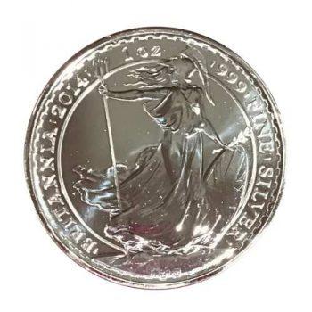 2014 1 oz British Silver Britannia Coin
