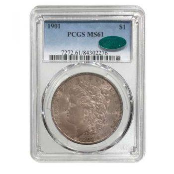 1901 Morgan Silver Dollar PCGS MS61