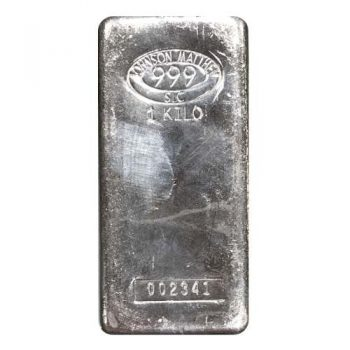 1 Kilo Johnson Matthey Silver Bar