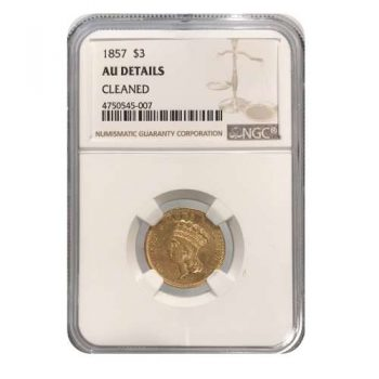 1857 $3 Gold Princess NGC