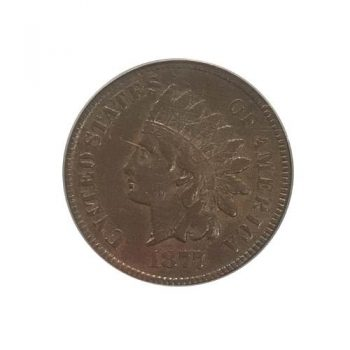 1877 Indian Cent PCGS F15