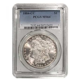 1884-CC Morgan Silver Dollar PCGS MS64