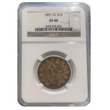 1891-CC $10 Gold Liberty NGC