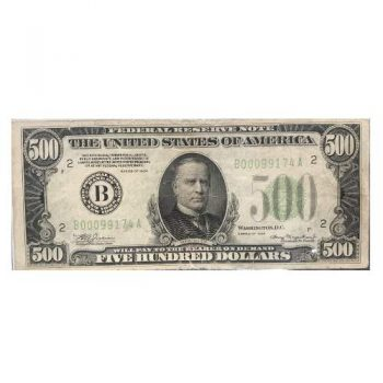 $500 1934 Federal Reserve Note
