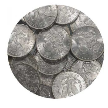 1887 BU Morgan Silver Dollars