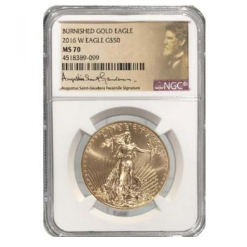 2016-W 1 oz Burnished Gold Eagle NGC MS-70
