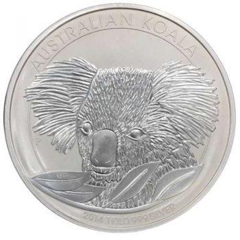 2014 1 Kilo Australian Silver Koala Coin (BU)