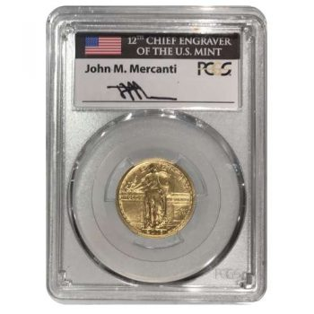 2016-W 1/4 oz Gold Standing Liberty Quarter PCGS SP-70