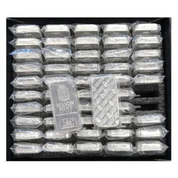 10 oz .999 Fine Silver Mason Mint Bar