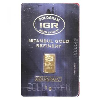 1 Gram Istanbul Gold Refinery Gold Bar