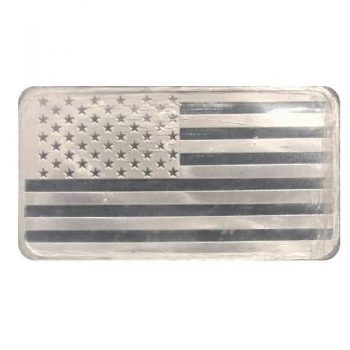 5 oz Flag Silver Bar