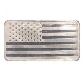 5 oz Flag Silver Bar