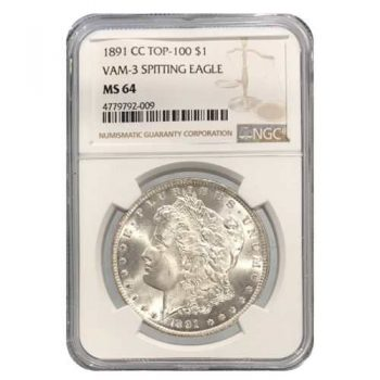 1891-CC Morgan Silver Dollar NGC MS64