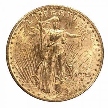 1925 $20 Gold St Gaudens Coin