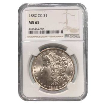 1882-CC Morgan Silver Dollar NGC MS65
