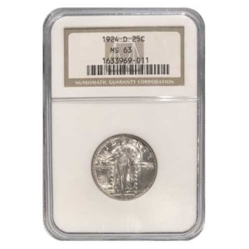 1924-D Standing Liberty Quarter NGC MS63