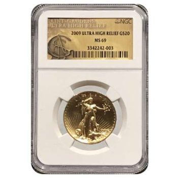 2009 Ultra High Relief $20 NGC MS69