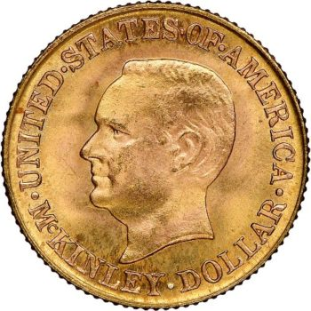 1916 McKinley Gold Dollar NGC MS65