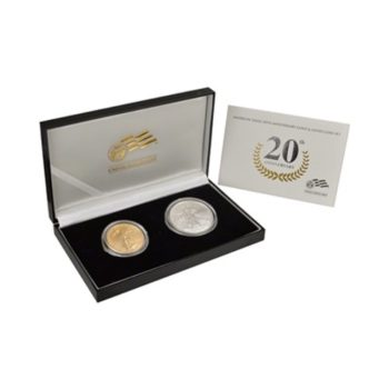 2006 American Eagle 20th Anniversary Gold & Silver Coin 2pc Set